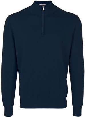 Canali Zip-Neck Sweater