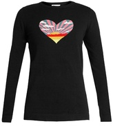 Bella Freud Sunset Heart cotton and cashmere-blend sweater