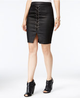 Marilyn Monroe Juniors' Lace-Up Pencil Skirt