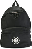 Versus lion head backpack - men - Cotton/Calf Leather/Polyamide - One Size