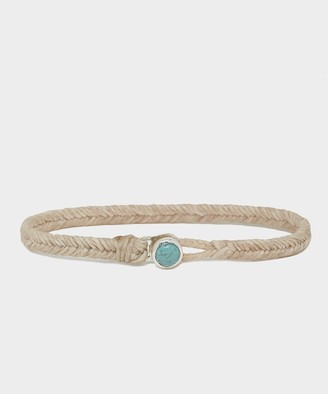 Scosha Scoshsa Classic Fishtail Bracelet with Turquoise Button in Natural