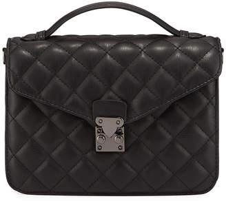 Jagger Kc Delancey Quilted Top-Handle Satchel Bag