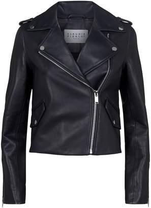 Claudie Pierlot Crop Leather Jacket