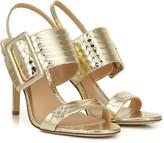 Via Spiga Metallic Leather City Stiletto Sandals - Macyn