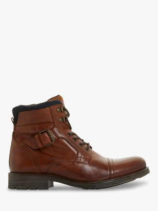 Dune Commonn Leather Boots, Tan