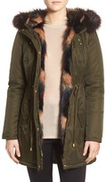 Betsey Johnson Women's Faux Fur Trim Parka