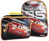 Cars Disney Pixar 3 Lightning McQueen Excellent Designed Boys School Backpack with Detachable Lunch Kit Set