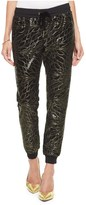 Juicy Couture Leaf Sequin Track Slim Comfy Pant