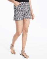White House Black Market 5-inch Printed Smooth Stretch Shorts