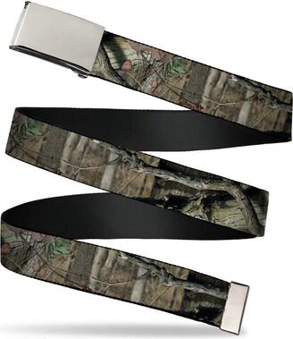 """Buckle Down Buckle-Down Men's Buckle-Down Web Belt Mossy Oak Ram 1.25"""""""