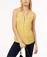 INC International Concepts Zip-Neck Sleeveless Top, Created for Macy's