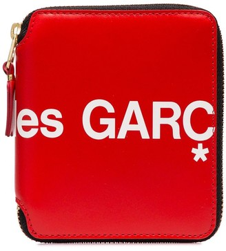 Comme des Garcons Logo Print Zipped Wallet
