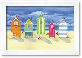 "Art.com Brighton Huts"" Framed Art Print by Paul Brent"