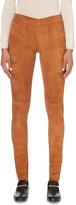 Joseph Skinny high-rise suede leggings