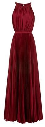 Dorothy Perkins Womens Chi Chi London Burgundy Pleated Maxi Dress