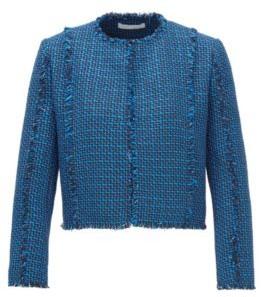 HUGO BOSS Regular Fit Jacket In Two Tone Tweed - Patterned