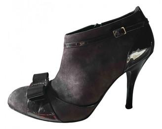 Salvatore Ferragamo Purple Suede Ankle boots