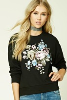 Forever 21 FOREVER 21+ Floral Embroidery Sweatshirt
