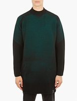 Y-3 Teal Knitted Ottoman Top