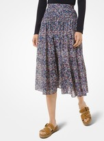 MICHAEL Michael Kors Floral Cotton Lawn Skirt
