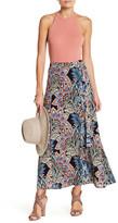 Bobeau Wrap Maxi Skirt (Petite)