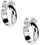 Anne Klein Small Silver Clip Hoop Earrings