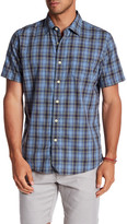 Grayers Stetson Poplin Plaid Regular Fit Short Sleeve Shirt