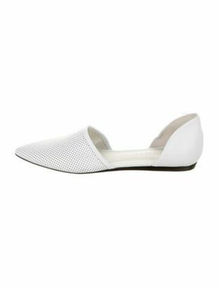 Jenni Kayne Leather Cutout Accent Sandals White