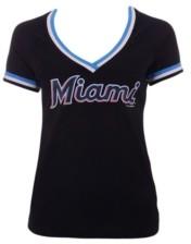 5th & Ocean Women's Miami Marlins Contrast Binding T-Shirt