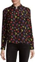 Alice + Olivia Women's Willa Silk Button-Down Shirt