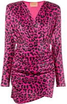 Andamane leopard-print fitted dress