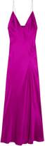 Haider Ackermann Silk-satin Maxi Dress - Bright pink