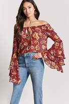 Forever 21 Floral Off-The-Shoulder Top