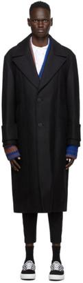 Wooyoungmi Black Wool Coat
