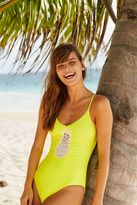 aerie Lace Pineapple One Piece Swimsuit