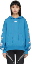 Off-White Off White Blue Airport Tape Hoodie