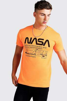 boohoo Nasa License Fitted T-Shirt