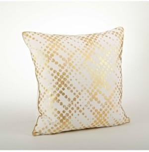 """Saro Lifestyle Distressed Metallic Foil Print Throw Pillow, 20"""" x 20"""""""