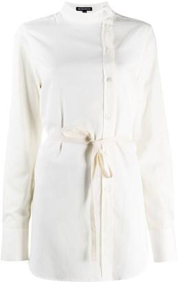 Ann Demeulemeester Striped Cotton Tie-Waist Shirt