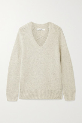 Vince Paneled Cashmere Sweater - Stone