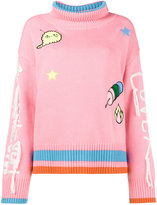 Mira Mikati Long Sleeved Jumper with Patches and Embroidered Arms