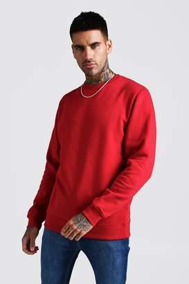 boohoo Basic Crew Neck Fleece Sweatshirt