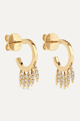 Ileana Makri Grass Clipping 18-karat Gold Diamond Earrings