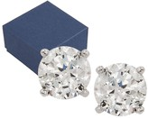 Diamonique 100-Facet 2.00 cttw Stud Earrings, Platinum Clad