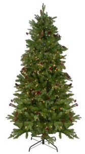 Northlight Pre-Lit Mixed Winter Berry Pine Artificial Christmas Tree