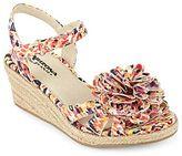 Arizona Peppa Girls Pattern Wedge Sandals
