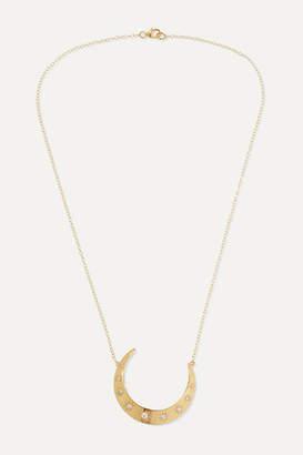 Andrea Fohrman Luna Large 18-karat Gold Diamond Necklace