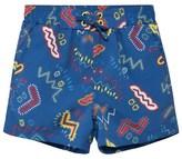 Stella McCartney Blue Zig Zag Swim Shorts