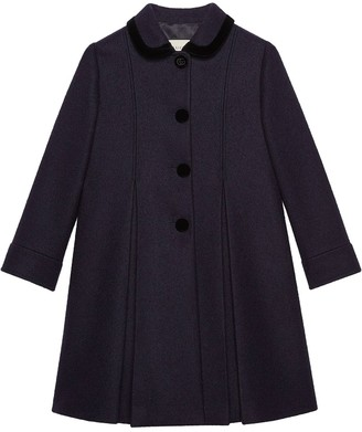 Gucci Cropped Sleeves Pleated Coat