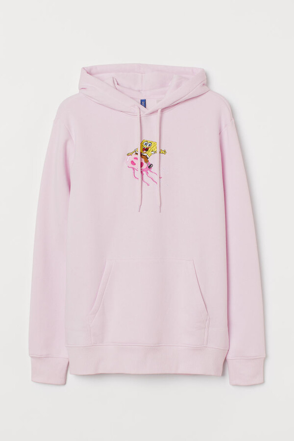 H&M Graphic-design Hoodie - Pink